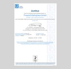 ISO 9001-2015 Zertifikat News