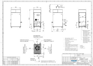 BOGE-Schraubenkompressor C 16 F techn. Zeichnung