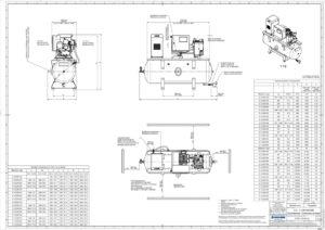BOGE-Druckluft-Zentrale C 4 LDR 160 techn. Zeichnung