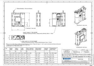 Öl-Wasser-Trenner CC 10-2 techn. Zeichnung