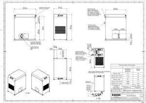 BOGE-Kälte-Drucklufttrockner DS 52-2 techn. Zeichnung
