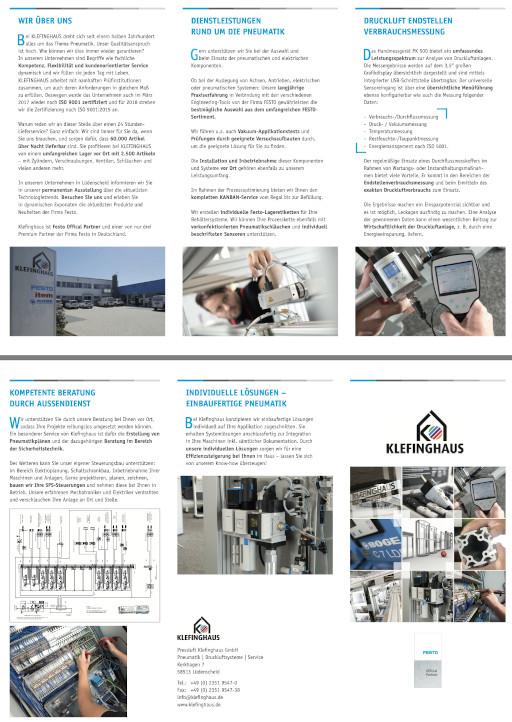 Der neue Klefinghaus Pneumatik Flyer