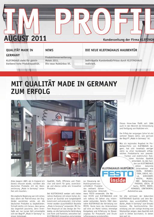 Kundenzeitung 08/2011