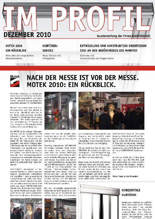 Kundenzeitung 12/2010