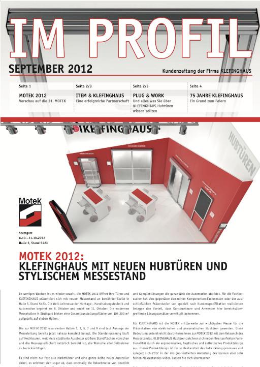Kundenzeitung 09/2012