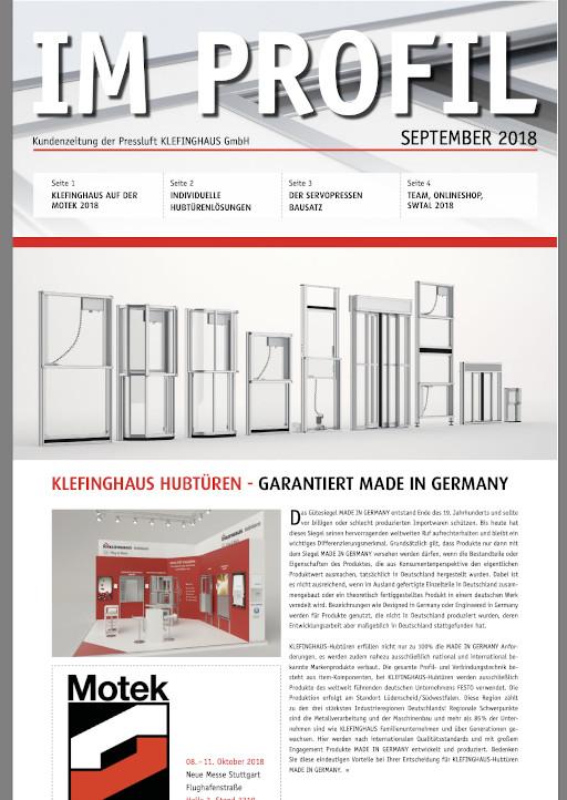 Kundenzeitung 09/2018