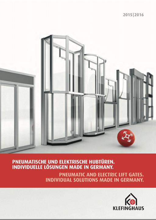 """Pneumatische und elektrische Hubtüren. Individuelle Lösungen """"Made in Germany"""""""
